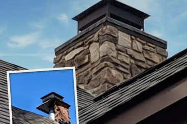 19-OCT-0498 before-after square format-stone chimney